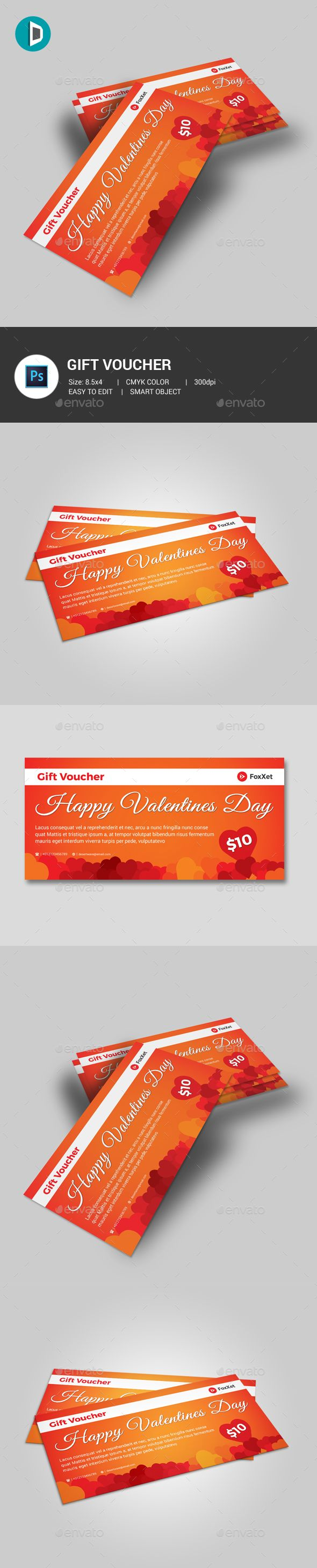Valentine's Day Gift Voucher - Loyalty Cards Cards & Invites