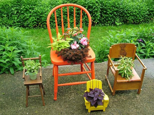 I want to use the potty chair we have.  It's so cute I hate to throw it away.  Let's see if I can grow some flowers in it.