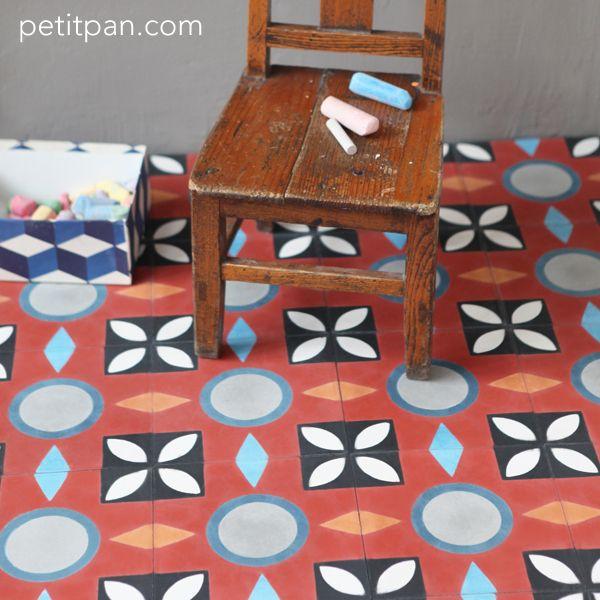 Carreau Petit Pan Dryade Rouge Floors Pinterest Rouge