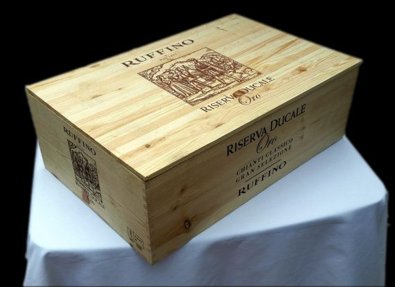 Check out this item in my Etsy shop https://www.etsy.com/listing/505065205/wine-crate-ruffino-wine-crate-with-lid