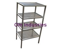 Owing to a long-term destination for our business, we are engaged in offering a wide gamut of SS (Stainless Steel) Rack in various designs and sizes. The offered rack is designed by using the finest quality stainless steel and ultra-modern technology, in line with set industry norms. Furthermore, this rack is used in various residential places and offices for storing different items in an organized manner. We offer this rack in various designs and specifications to meet the diverse demands…