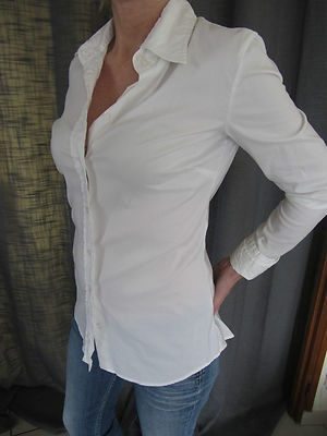 superbe chemise blanche Guess T38