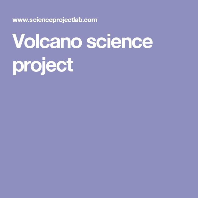Science projects done at home