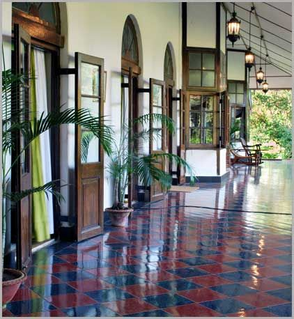 British Empire style decor inspiration photos: Think balmy nights, mosquito netting, large verandahs, tents, animals prints, palm trees, deserts...