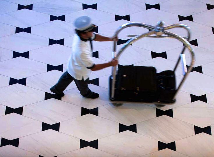 Bowtie Floor Pattern - Fontainebleau Hotel Lobby, Miami Beach