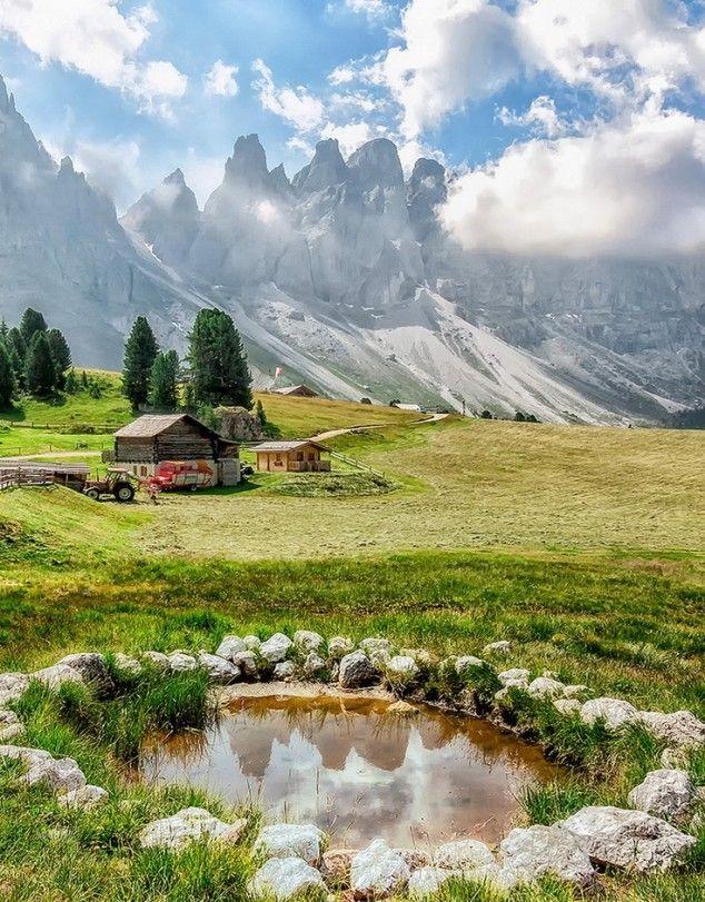 Villnöss, Funes, Italy.                                                                                                                                                                                 Mais