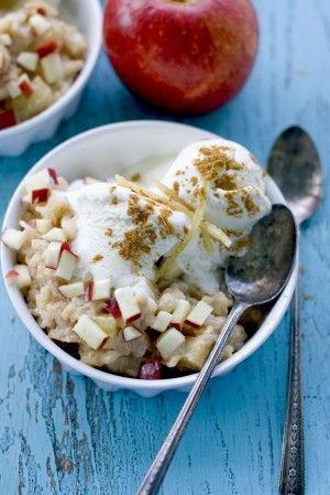 Carmelized Apple Ginger Rice Pudding | Let's Eat | Pinterest