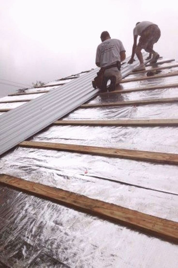 Reroofing With Corrugated Metal and Radiant Barrier Over