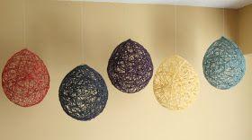 More Like June: Yarn Balloon Decorations Tutorial