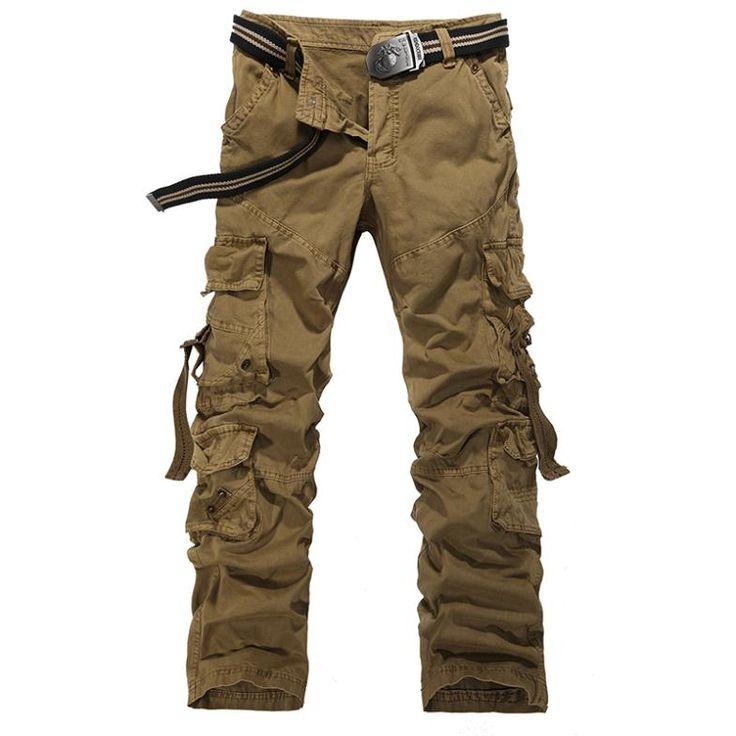 Hot- verkopen mannen cargo broek 100 % katoen overall losse broek cargo broek mode leger militaire broek plus size