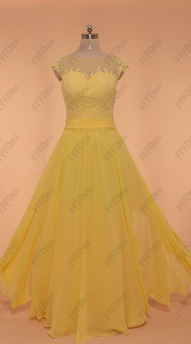 Yellow Modest Long Prom Dresses Plus Size Dresses Formal Dresses Long Plus Size Prom Dress Styles [ 1199 x 664 Pixel ]