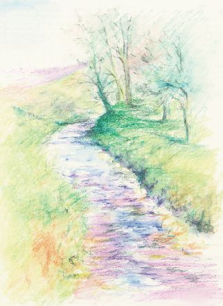 Try using Caran d'Ache Supracolor Soft Aquarelle pencils with Mary Herbert