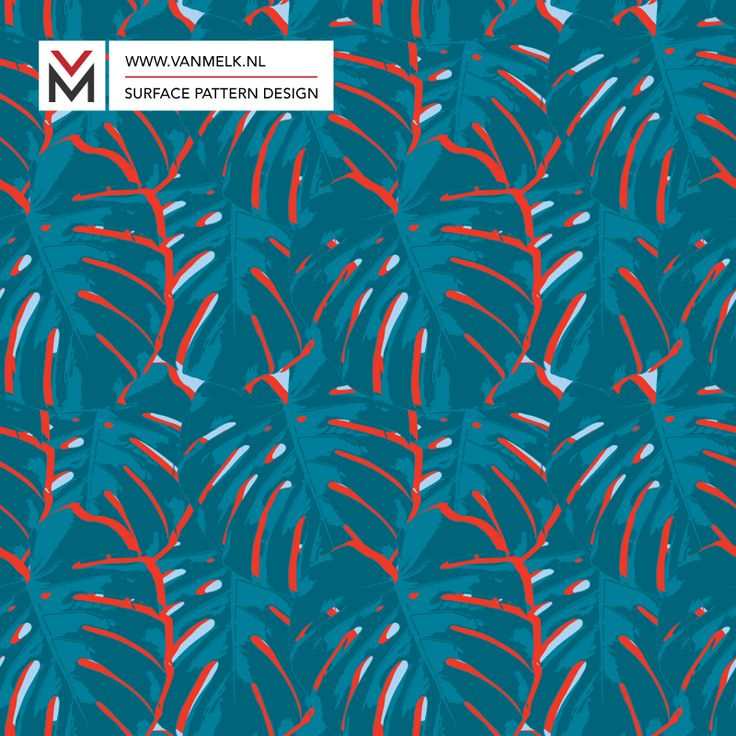Monstera leaf surface pattern design, wallpaper, textile design, wrapping