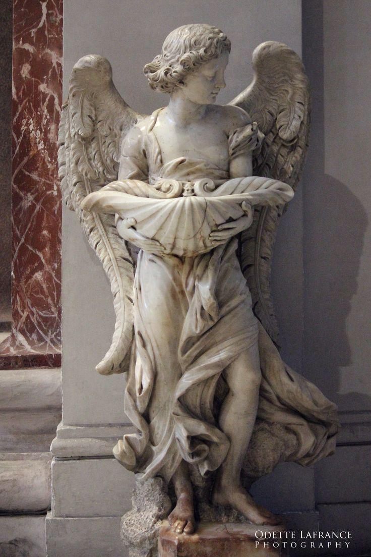 """Welcome Angel"", Digital Photography  (Santa Maria degli Angeli e Martiri, Piazza Ezedra in Rome), Odette Lafrance"