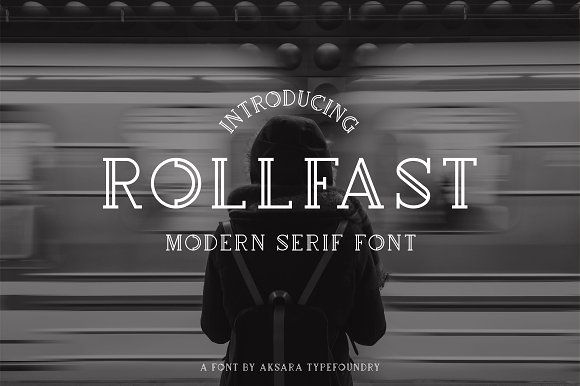 GET IT WHILE IT'S FREE!!! - Deal ends on March 12th, 2018 - Rollfast Font  by Aksara Typefoundry on @creativemarket