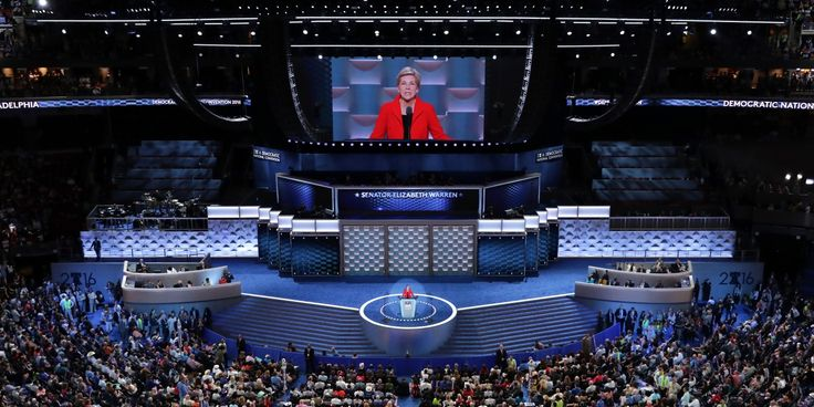 PHILADELPHIA, PA - JULY 25:  Sen. Elizabeth Warren (D-MA) delivers remarks on the first day of the Democratic National Convention at the Wells Fargo Center, July 25, 2016 in Philadelphia, Pennsylvania. An estimated 50,000 people are expected in Philadelphia, including hundreds of protesters and members of the media. The four-day Democratic National Convention kicked off July 25.  (Photo by Chip Somodevilla/Getty Images)