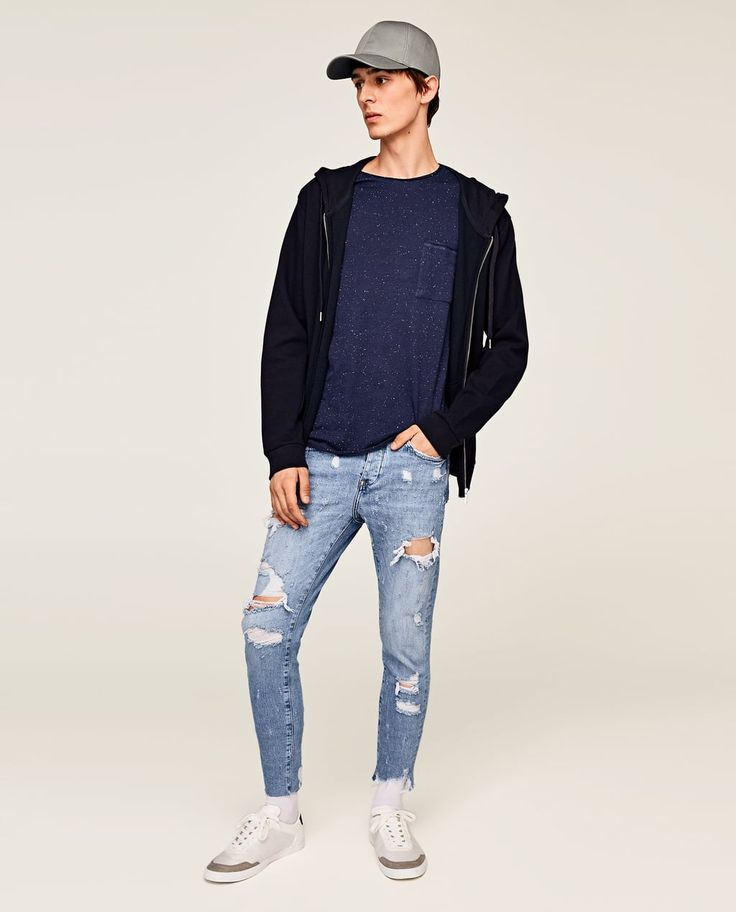 ZARA - HOMME - PULL BOUTONNÉ
