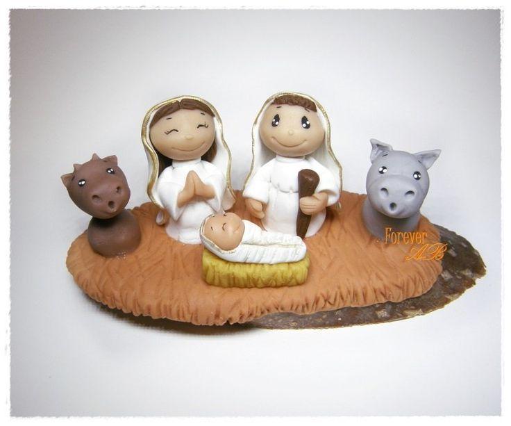 Presepe natività bianco in pasta di mais idea regalo Natale, by Forever AB, 12,00 € su misshobby.com