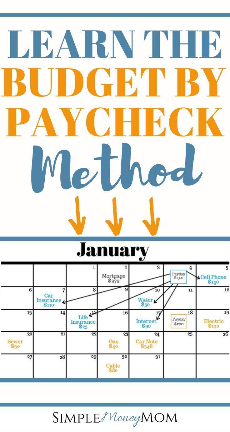 Wenn Sie mit Gehaltsscheck budgetieren, haben Sie so viel Kontrolle über Ihr Geld und …   – Budgeting Tips