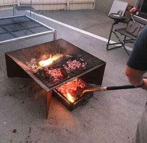 Local Pickup Only Tiny The Bbq Grill Etsy Metal Fire Pit Diy Metal Fire Pit Fire Pit