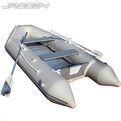 Inflatable Dinghy Boat Aluminium Floor & Paddles 320x152cm Foot Pump Family Size