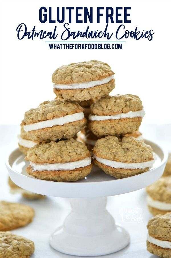 Gluten Free Oatmeal Sandwich Cookies are easy to make and super delicious! Recipe from @whattheforkblog