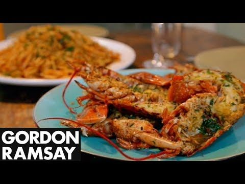 Grilled Lobster with Bloody Mary Linguine - Gordon Ramsay - YouTube