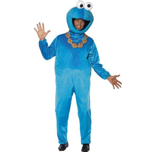 Met dit Koekiemonster kostuum lijk je helemaal op de Koekiemonster uit Sesamstraat. Dit Koekiemonster kostuum is blauw van kleur en bestaat uit complete jumpsuit met een hoofd. Ga verkleed als de karakters uit Sesamstraat. One size model jumpsuit. Carnavalskleding 2015 #carnaval