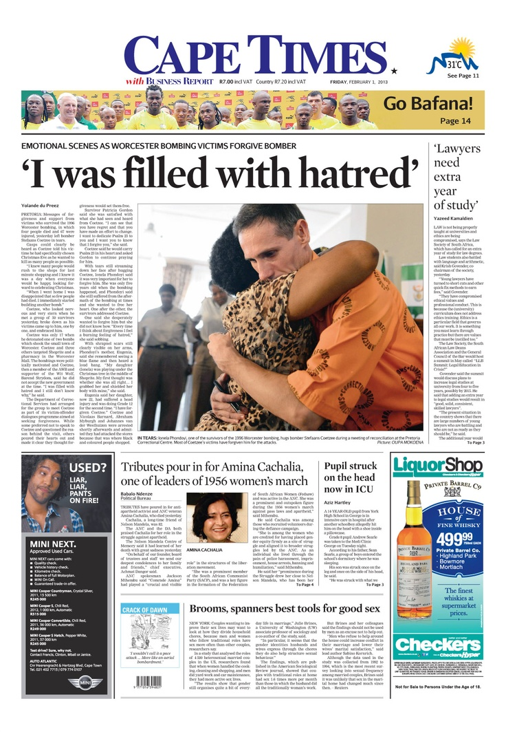 News making headlines: 'I was filled with hatred'