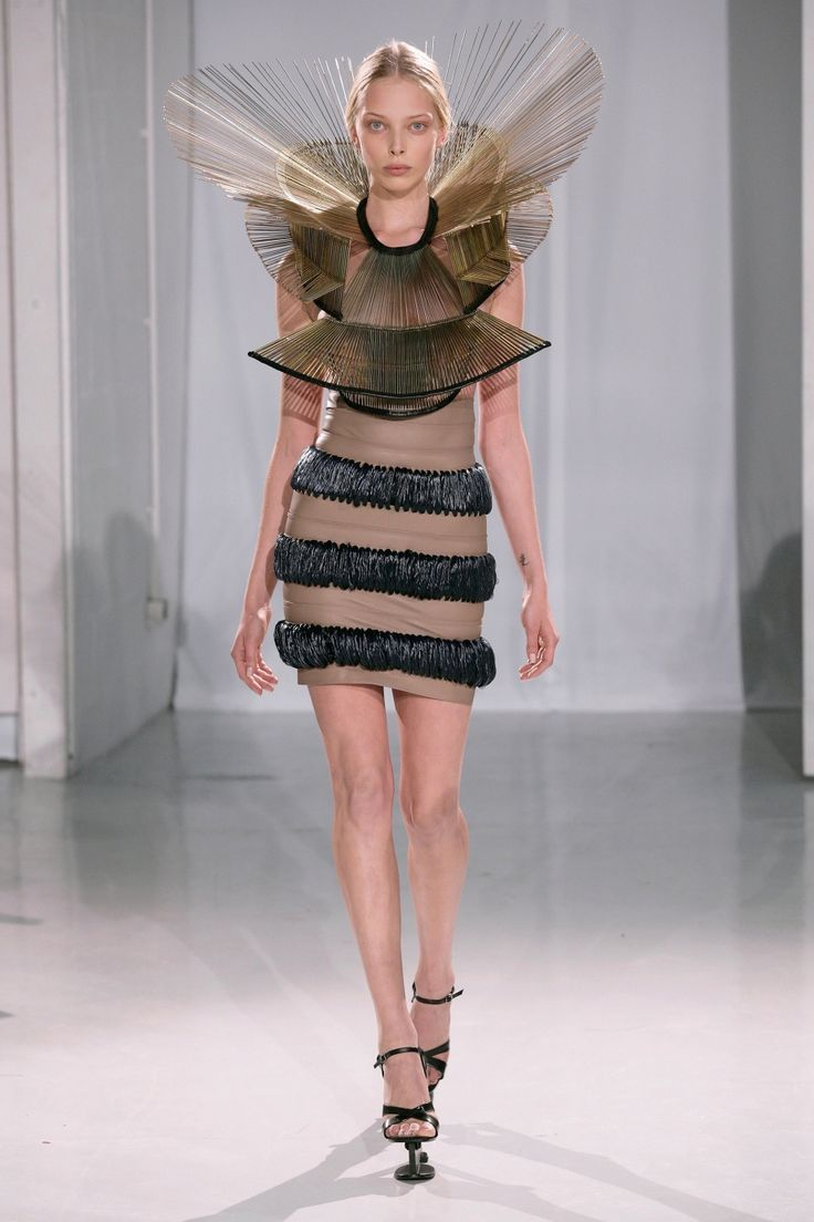 Iris van Herpen, Dutch fashion design talent and studied at the Antwerp fashion academy. Awesome design!