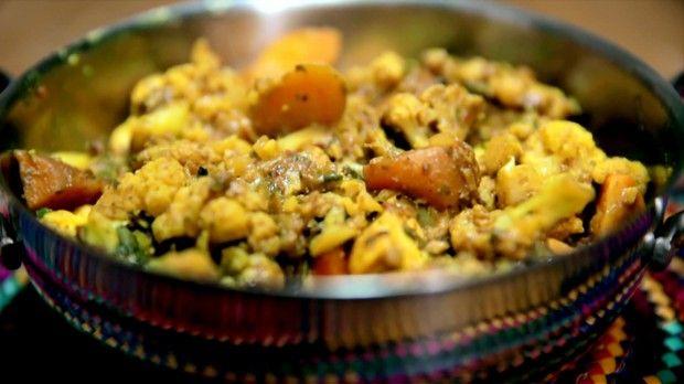 Curry de Vegetais: receita da Bela Gil para o Bela Cozinha (Foto: Reproduo/GNT)