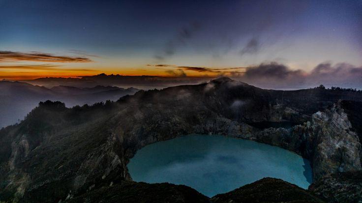 Vulkan Kelimutu auf Flores, Indonesien