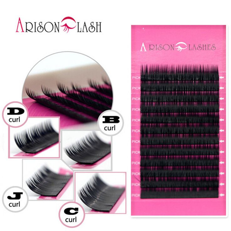 Mixed Size Mink Individual False Eyelashes Fake Lash Semi Permanent Arison Lash