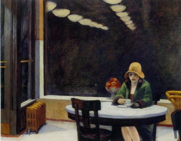 Edward Hopper, Automat, 1927, Des Moines Art Center