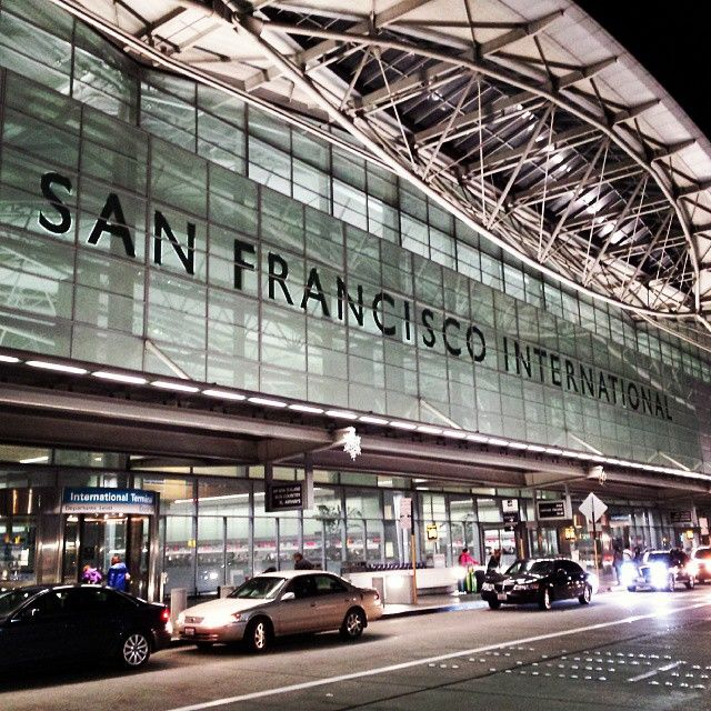 San Francisco International Airport (SFO) in San Francisco, CA. America is a large country and many people use airports as a means of transporation if they have to travel a lot for work, or to get across the country instead of spending days in the car to get from New York to California. For some people, traveling my plane for business is a way of life (civilization)