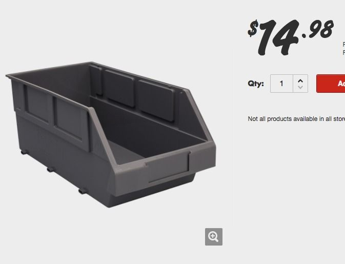 Handy Storage 400mm Storage Tote Size 40 | Bunnings Warehouse