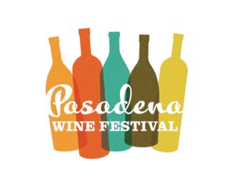Pasadena Wine FestivalDesign Inspiration, Logo Design, Negative Space, Graphics Design, Colors Palettes, Wine Festivals, Wine Bottle, Wine Logo, Pasadena Wine