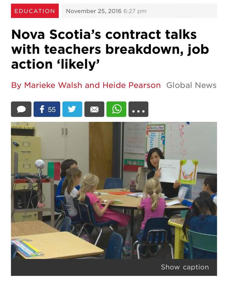 RT @MariekeWalsh: Heres the latest on #teachers talks breaking down in case youre just joining in. --- Talks between the Nova Scotia Teachers Union and provincial government broke down Friday w/ the union saying job action is likely. . Government invited us back to the bargaining table but remains unwilling to negotiate working conditions into our collective agreement Union President Liette Doucet said in a release sent late Friday. . The two sides met on Monday and Friday of this week with…