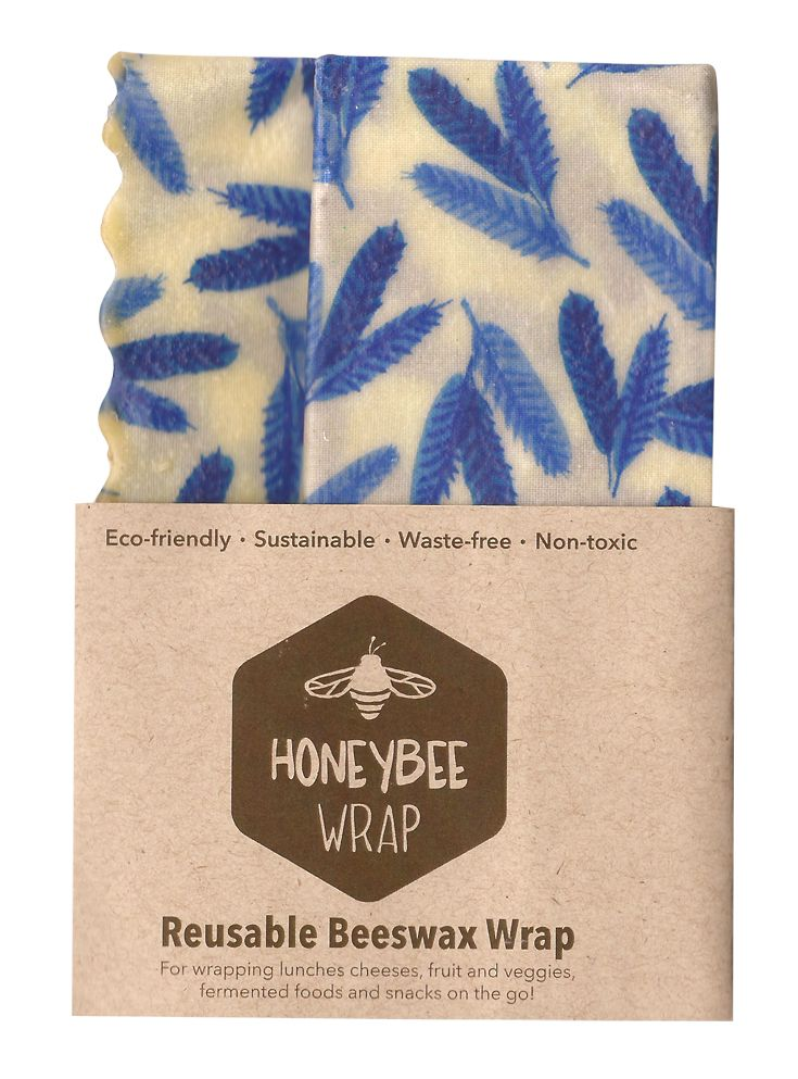 Honeybee Wrap. Reusable beeswax food wrap.  Available in Friday, Saturday and Sunday Showbag.