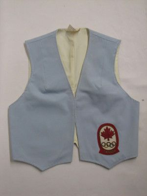 Nancy Garapick's vest, Montreal 1976. Nova Scotia Sport Hall of Fame collection, Halifax