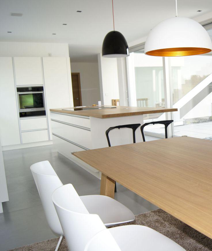 Spachtelboden,Küchenboden Beton Fugenlos Gespachtelt Von