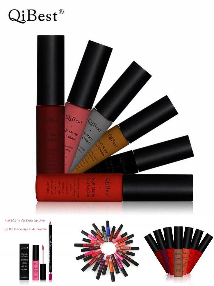 [Visit to Buy] QiBest Makeup Matte Lipstick Waterproof Lasting Batom Matter Lip Stick Nude Liquid Lipstick Lip Gloss Maquiagem Nude Lip Stain #Advertisement