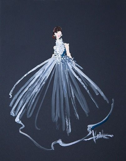 Artist @paperfashion Used Q-Tips To Create THE Most Amazing 2015 Oscar Gown Illustrations via @bustledotcom