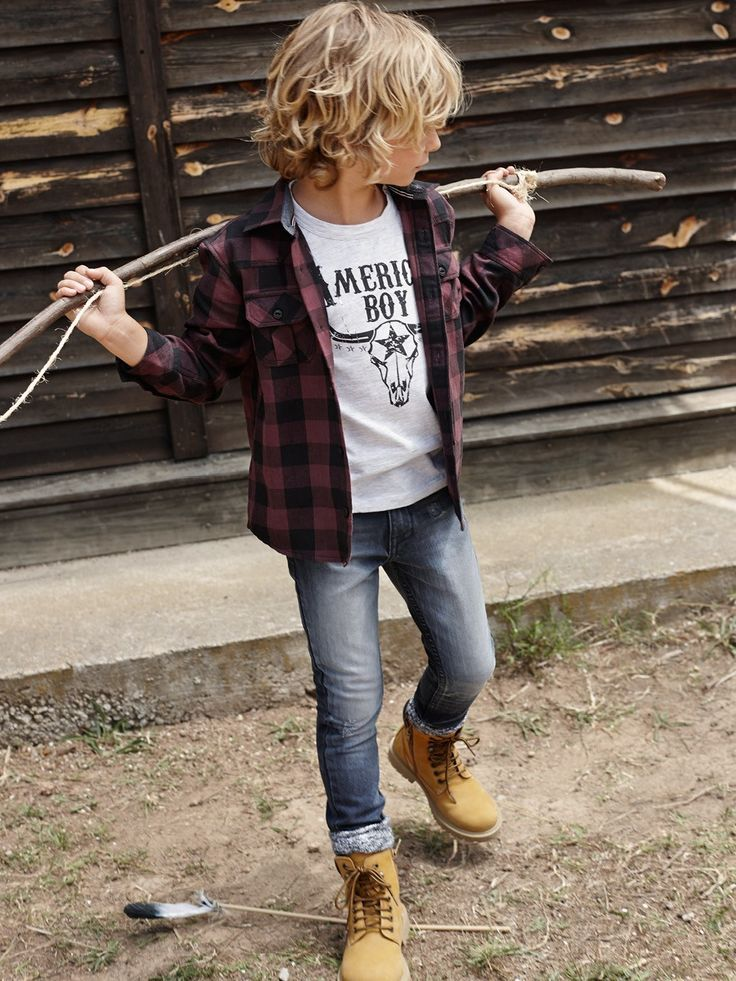 Mango kids winter 2014-2015 new collection | check shirt and cools shoes