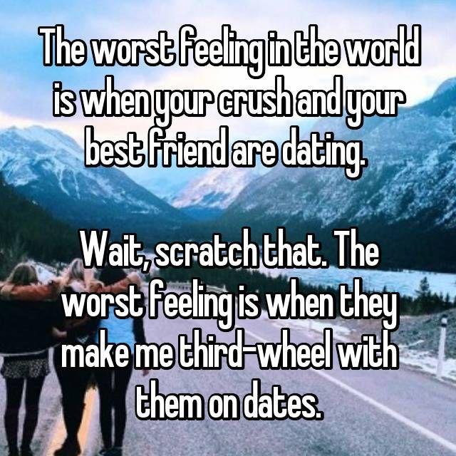 Hier erfahren Sie, wie die Leute mit ihrem besten Freund umgehen, der sich mit ihrer Schwärmerei verabredet – Quotes