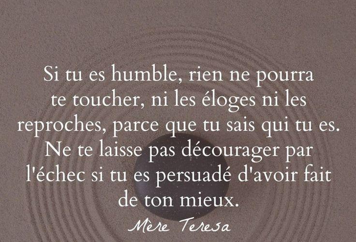 Si tu es humble...
