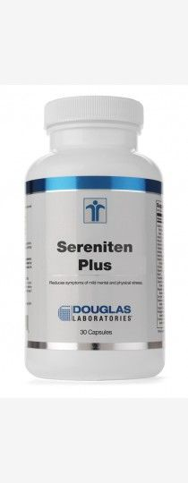 Sereniten Plus by Douglas Laboratories Anxiolytic effect reducing Mental and Physical Stress. Sereniten Plus is a combination of Lactium L-Theanine and Vitamin D to support the HPA axis and feedback loop for stress management and cortisol regulation.