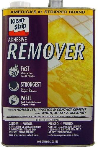 Re: Unheated Sunroom Flooring? Make Sure All Of The Glue Residue Is Off The