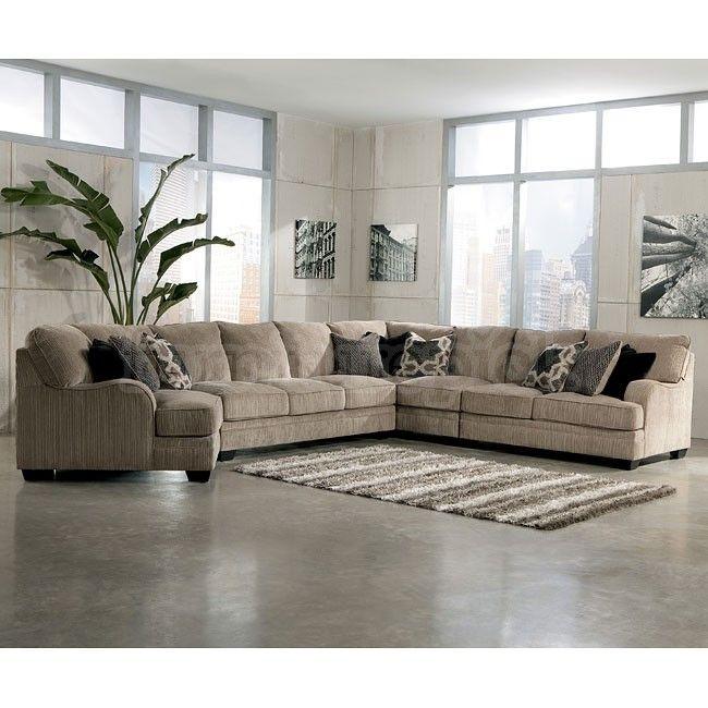 Signature Design By Ashley Furniture Katisha Platinum Sectional Sofa With Left Cuddler Item Number