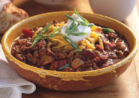 Beef and Dark Beer Chili: Recipe: bonappetit.com *making this tonight* #yumm #fall #comfortfood